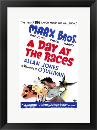 Framed Day At the Races - Marx Bros. Print