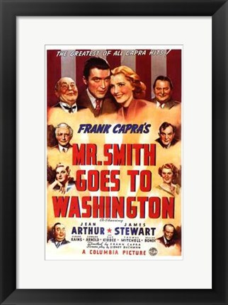 Framed Mr Smith Goes to Washington With Frank Capra Print