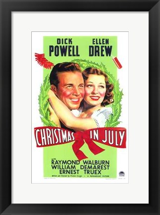Framed Christmas in July Print