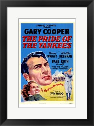 Framed Pride of the Yankees - Gary Cooper Print