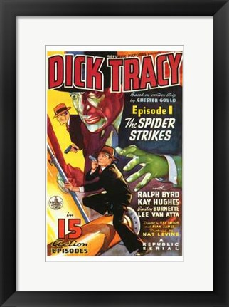 Framed Dick Tracy The Spider Strikes Print