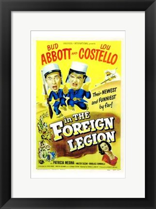 Framed Abbott and Costello in the Foreign Legion, c.1950 Print