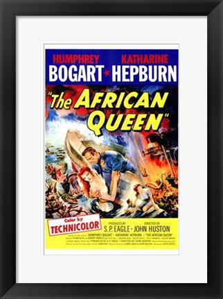 Framed African Queen S.P. Eagle & John Huston Print