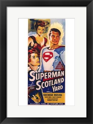 Framed Superman in Scotland Yard Print