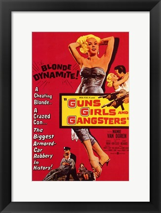 Framed Guns  Girls and Gangsters Print