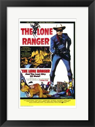Framed Lone Ranger and the Lost City of Gold  T Print