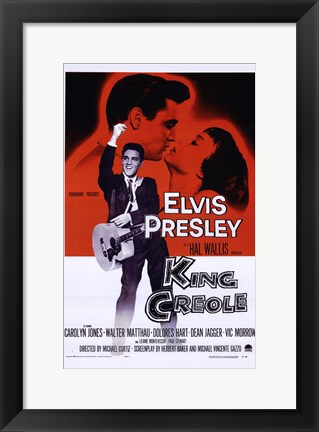 Framed King Creole Presley and Wallis Print