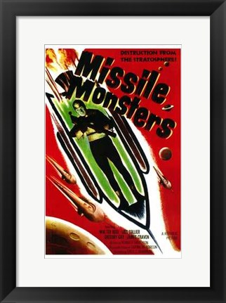 Framed Missile Monsters Print