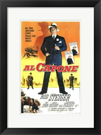 Framed Al Capone With Rod Steiger Print