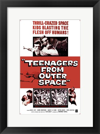 Framed Teenagers from Outer Space Print