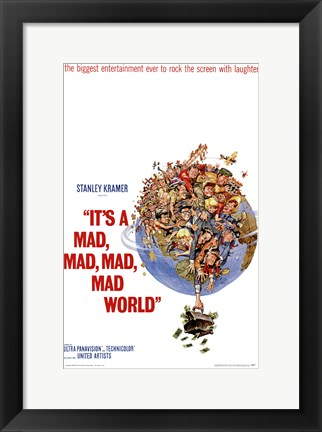 Framed It's a Mad Mad Mad Mad World Stanley Kramer Print