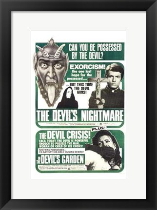 Framed Devil's Nightmare  the-Devil's Garden  T Print