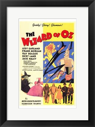 Framed Wizard of Oz Gaiety Glory Glamour Print