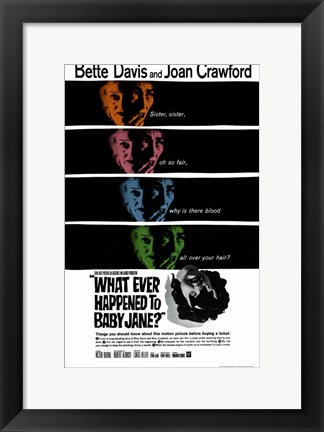 Framed Whatever Happened to Baby Jane - faces Print