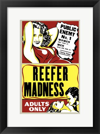 Framed Reefer Madness Print
