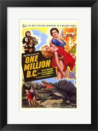 Framed One Million Bc Victor Mature Print