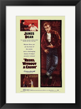 Framed Rebel Without a Cause Mutliple Shots Yellow Print
