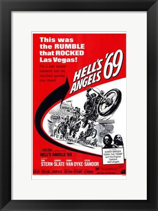 Framed Hell's Angels '69 Print