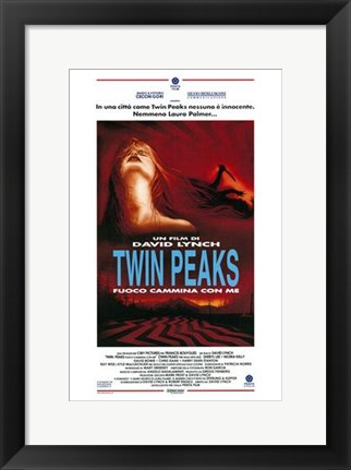 Framed Twin Peaks: Fire Walk with Me David Lynch Print