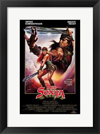 Framed Red Sonja, c.1985 - style A Print