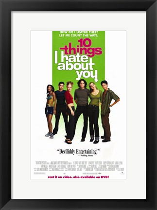 Framed Ten Things I Hate About You Print
