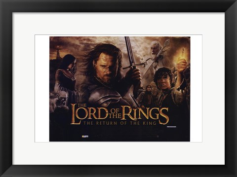 Framed Lord of the Rings: Return of the King Cast Print