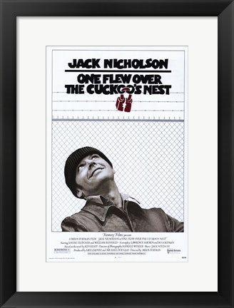 Framed One Flew Over the Cuckoo's Nest Black and White Print