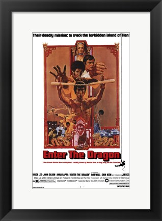 Framed Enter the Dragon Deadly Print