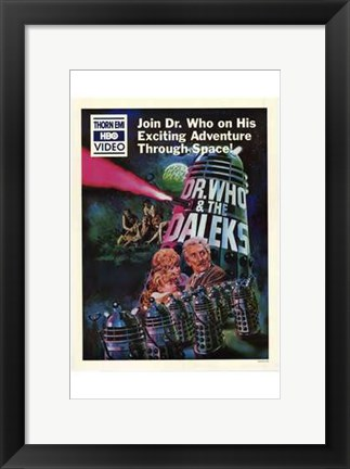 Framed Dr Who and the Daleks Print