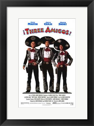 Framed Three Amigos Print
