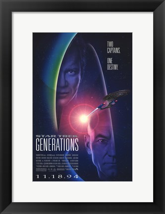 Framed Star Trek: Generations Print