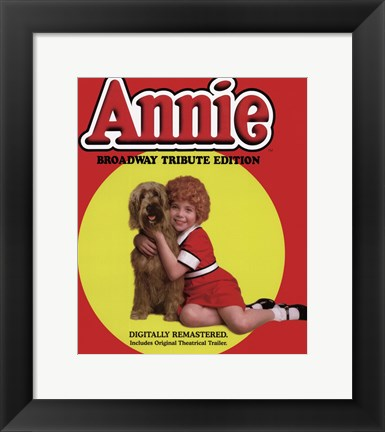 Framed Annie Broadway Tribute Print