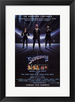 Framed Superman 2 Adventure Continues Print