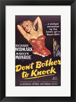 Framed Don't Bother to Knock Marilyn Monroe Print