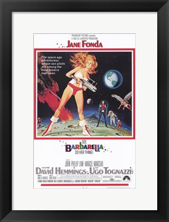Framed Barbarella On the Moon Print