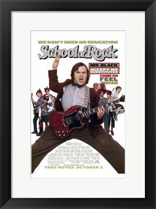 Framed School of Rock Print