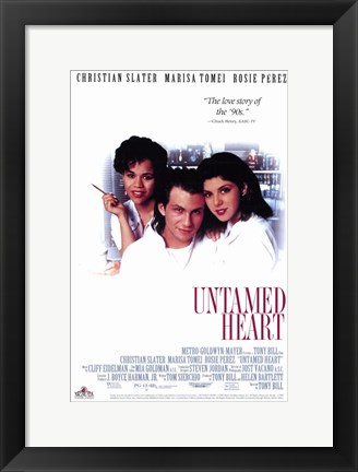 Framed Untamed Heart movie poster Print