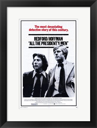 Framed All the President's Men Print
