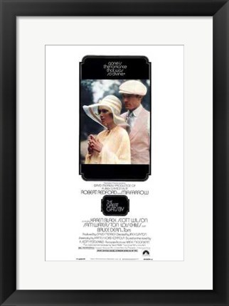 Framed Great Gatsby Tall Print