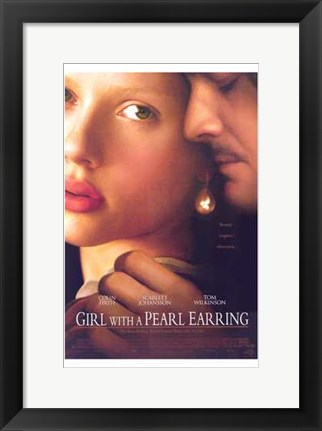 Framed Girl with a Pearl Earring, c.2003 Print
