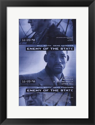 Framed Enemy of the State Print