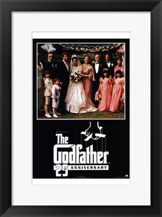 Framed Godfather 25th Anniversary Print