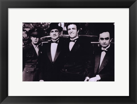 Framed Godfather Men in Suits Print