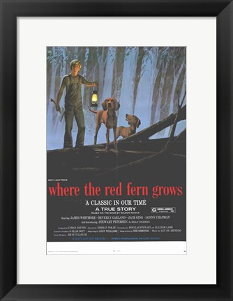 Framed Where the Red Fern Grows Print