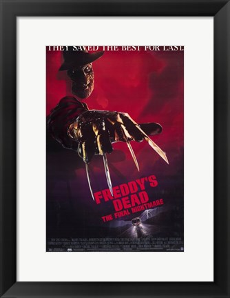 Framed Freddy's Dead Final Nightmare Freddy Krueger Print