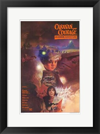 Framed Ewok Adventure - Caravan of Courage Print