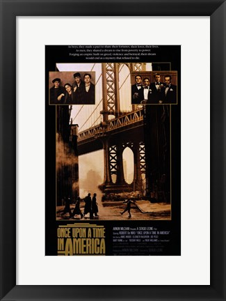 Framed Once Upon a Time in America Bridge Print
