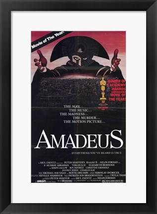Framed Amadeus Movie of the Year Print