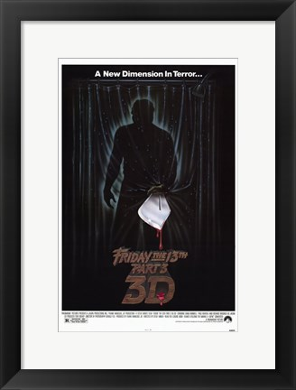 Framed Friday the 13Th Part 3 Print