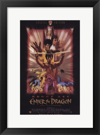 Framed Enter the Dragon Faded Print